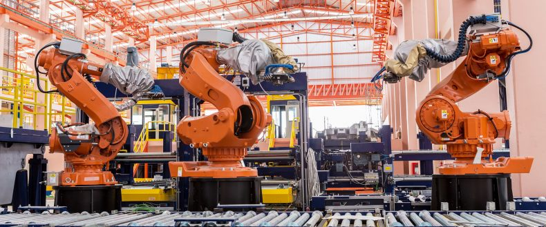 Manufacturing robot visual